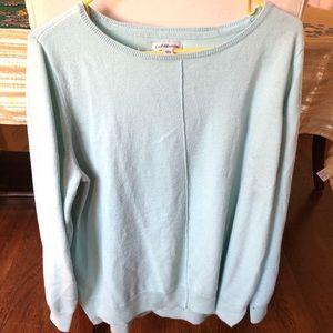 XL blue tunic sweater